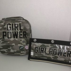 Children's Place Camo Lunch Bag & Pencil Case